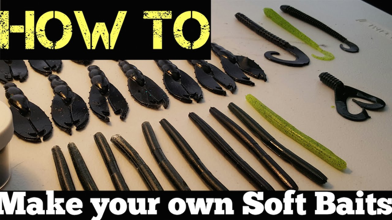 How to make your own soft plastic fishing lures youtube for Create your own fish