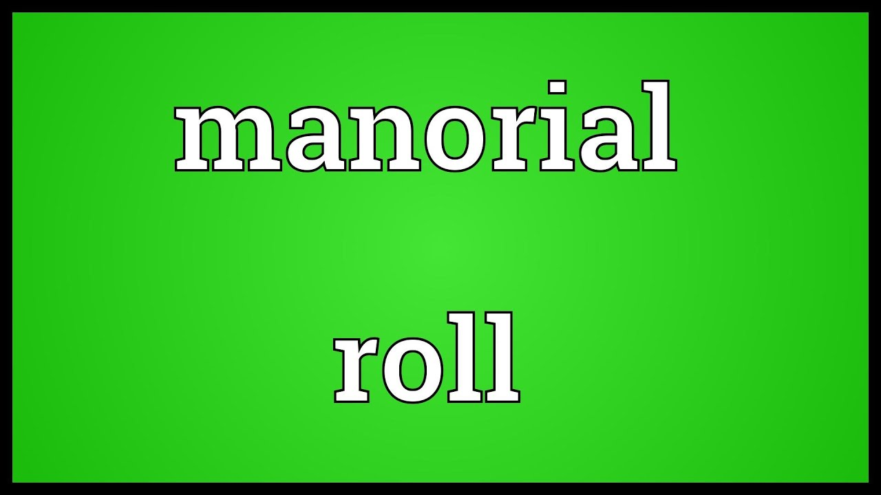 Manorial roll Meaning  YouTube
