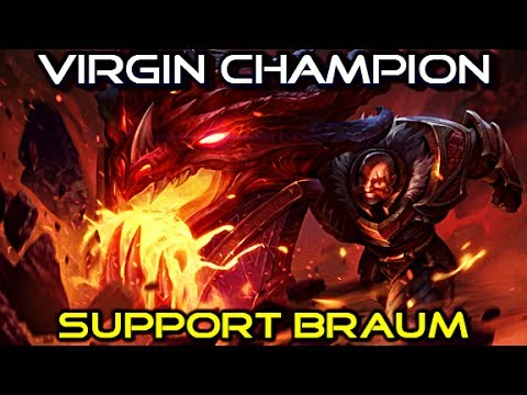Virgin Champion : Braum - League of Legends Full Gameplay Commentary
