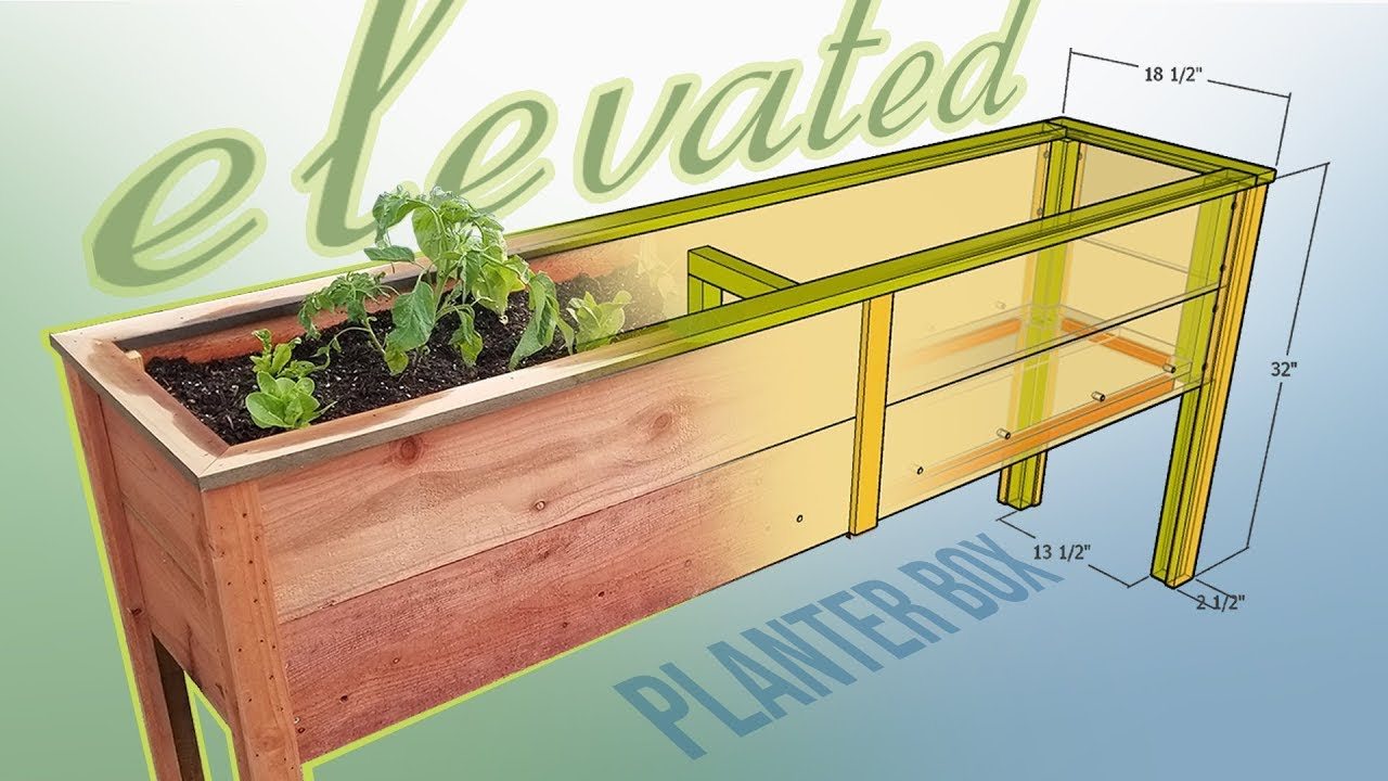 Diy Elevated Planter Box With Plans Youtube