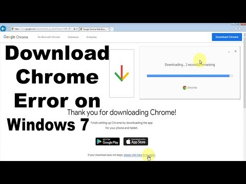 How To Download Chrome Error On Windows 7 In Hindi