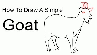 How To Draw A Simple Goat