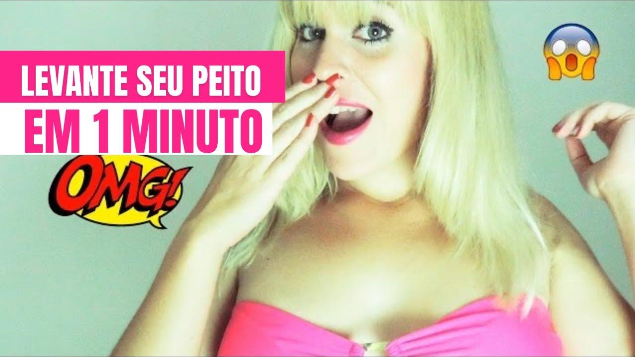 ef26ce800 TRUQUE PARA LEVANTAR OS PEITOS EM 1 MINUTO (sem maquiagem) - YouTube