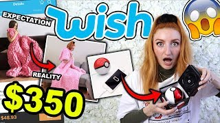 Download WISH HAUL | I SPENT $350 AT WISH!!! EXPECTATION VS REALITY HAUL (2019) Mp3 and Videos