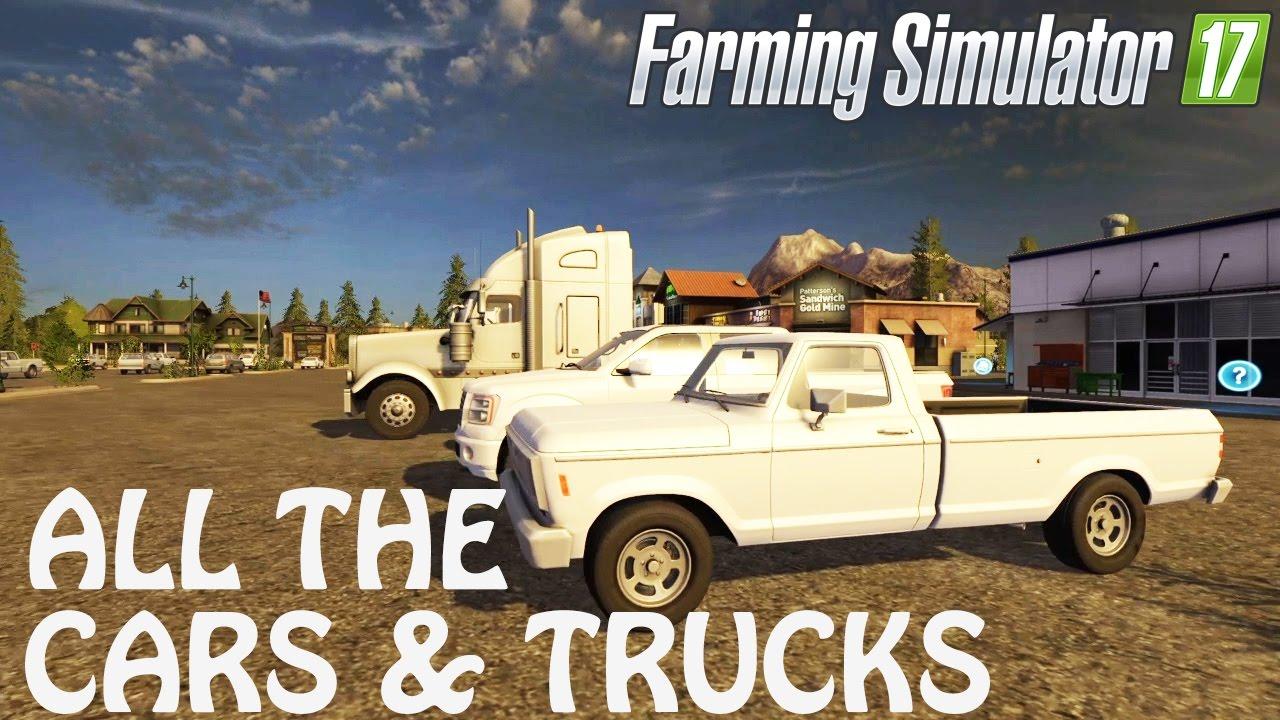 all cars truck vehicles in farming simulator 2017. Black Bedroom Furniture Sets. Home Design Ideas