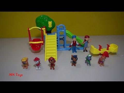 Paw Patrol - Đồ chơi mô hình biệt đội cứu hộ chó thông minh - Lắp ráp cầu trượt xích đu  MN Toys