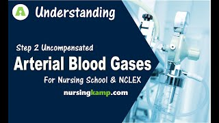 What is Uncompensated ABG Interpretation Arterial Blood Gas Step 2 Nursing KAMP NCLEX Review 2019