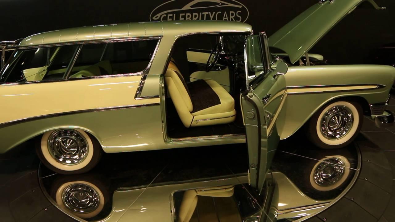 1956 Chevrolet Nomad At Celebrity Cars Las Vegas - YouTube