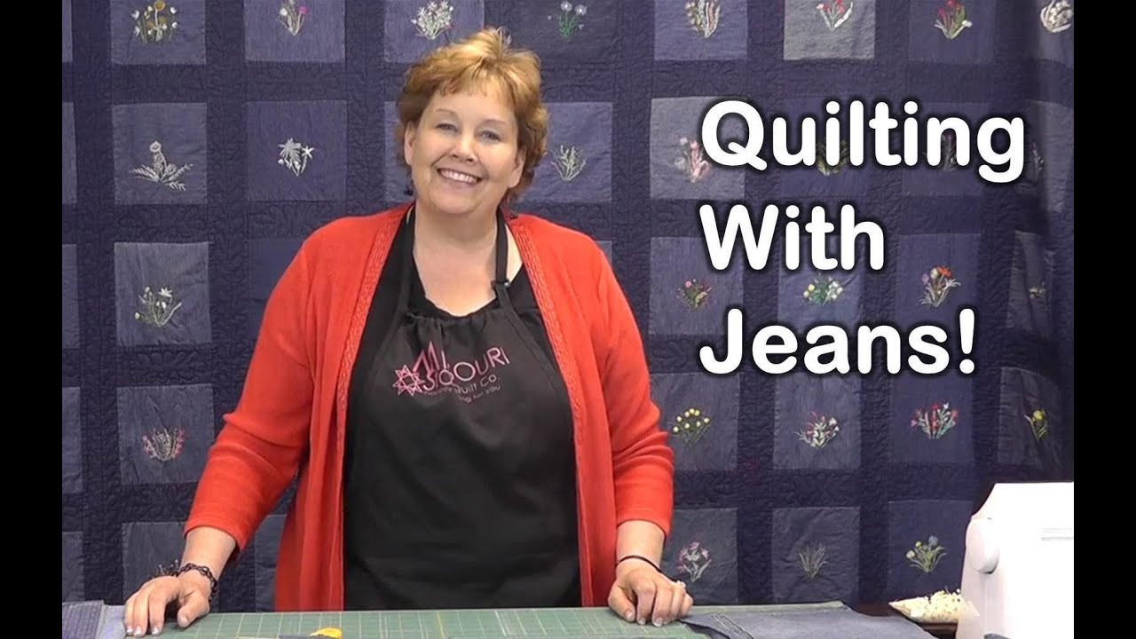 Quilt Using Old Jeans Denim Quilting Youtube