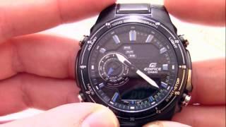 Годинник Casio EDIFICE EFA-131BK-1A [EFA-131BK-1AVEF] - Інструкція, як налаштувати від PresidentWatches.Ru