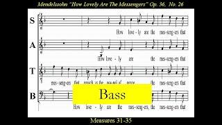 Bass-Mendelssohn-How Lovely Are The Messengers-Score