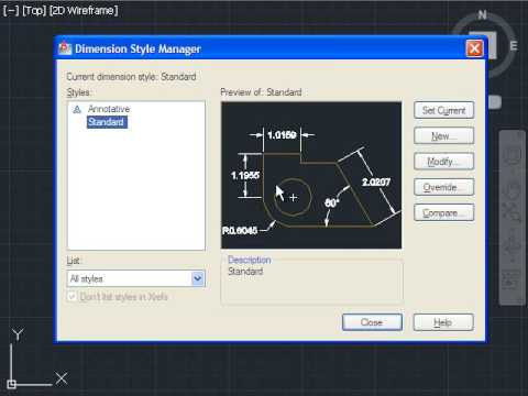 AutoCAD Tutorial Change the Scale of Dimension Font