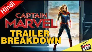 Captain Marvel - Official Trailer Breakdown & Easter Eggs [Explained In hindi]