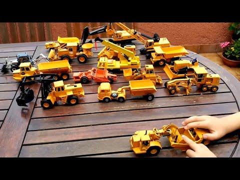 Juguetes Tractor joal excavadora camión grúa kids toys caterpillar construction bulldozer trucks