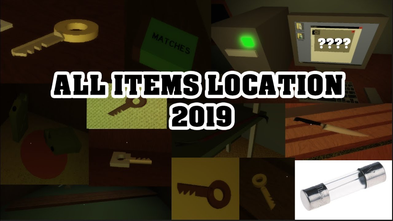 Alone Roblox Game Tools Alone In A Dark House All Items Location 2019 Youtube