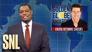 Weekend Update: Tom Cruise Returns Golden Globes & Ohio State Massage Therapist - SNL