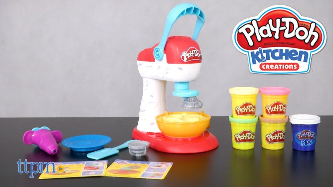Play-Doh Kitchen Creations Spinning Treats Mixer from Hasbro - YouTube