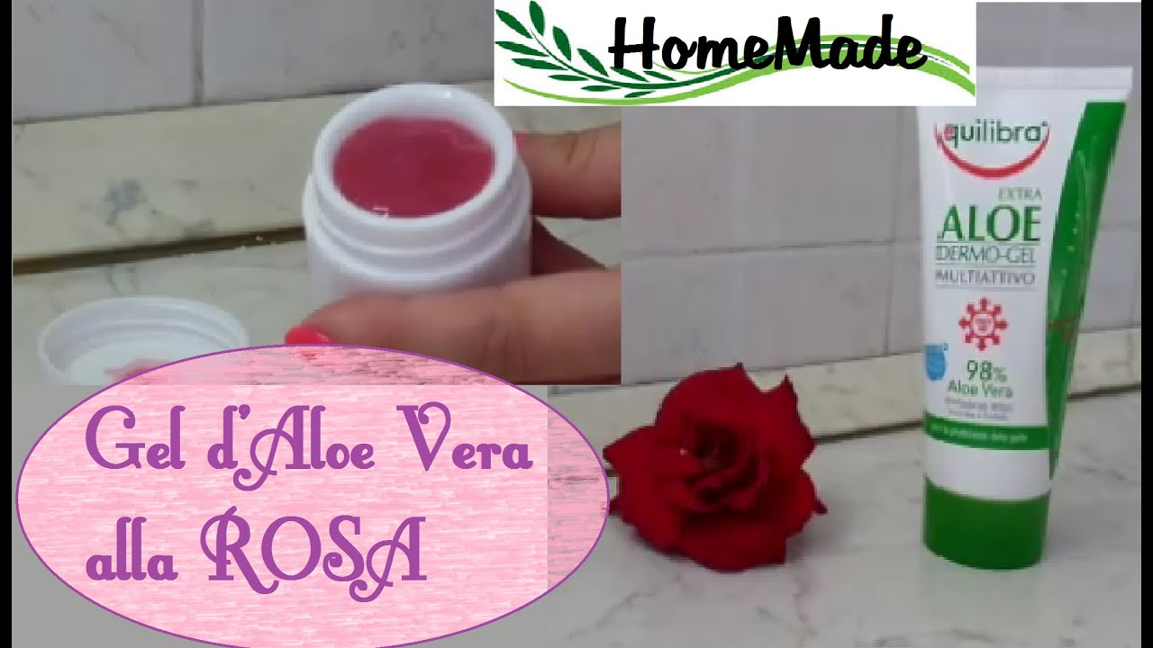 gel d 39 aloe vera alla rosa fai da te facilissimo rose aloe vera gel diy youtube