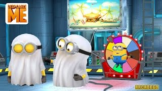 Despicable Me 2 - Minion Rush : NEW ! Ghost Minion Costume Halloween Haunted Hustle ! Funny Minion