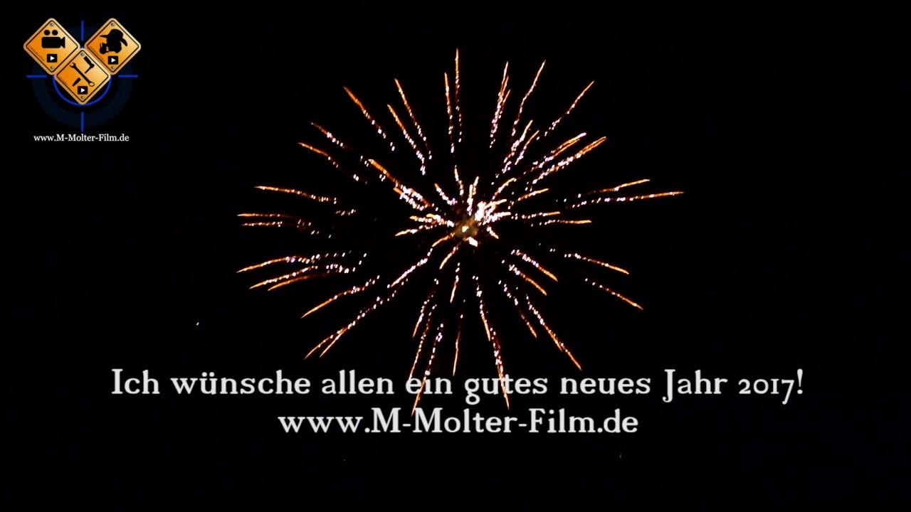 Feuerwerk - Ich wünsche allen ein gutes neues Jahr 2017! www.M ...