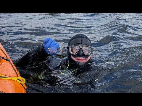 An Alta. diver dropped his glasses in a 54 km2 lake, and he retrieved them months later