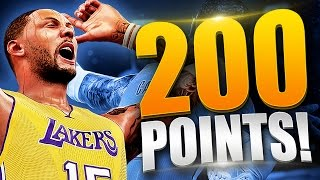 NBA 2K16 MyCAREER - THE 200 POINT CHALLENGE! Getting Posterized, Crazy Dunks & More!