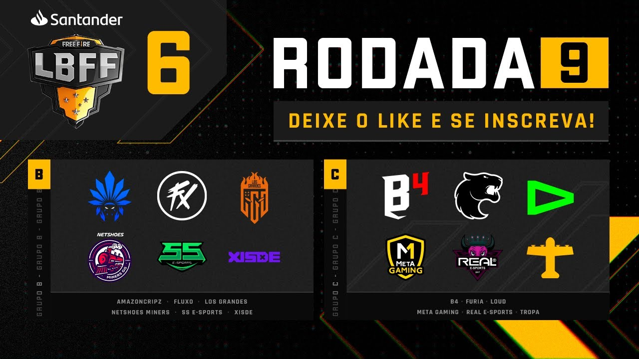 LBFF 6 - Rodada 9 - Grupos B e C | Free Fire
