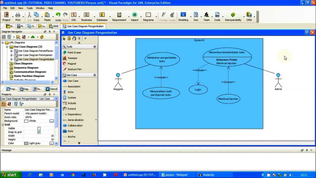 Tutorial uml use case diagram pengembalian perpus part 3 tutorial uml use case diagram pengembalian perpus part 3 visual paradigm ccuart Gallery