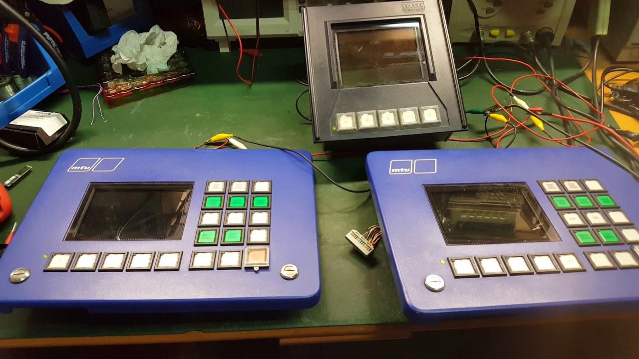 MTU electronic service repair and troubleshooting  Display monitor screen   Reparar electrónica  by Restoretronic - Marine electronic repair