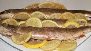 Очень вкусная рыба (голец) в духовке, запеченная в фольге.