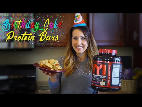 Birthday Cake Protein Bars | Cooking with Kara | Tiger Fitness