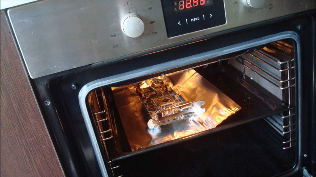 Fixing graphic card with an oven (AMD Radeon 6850)
