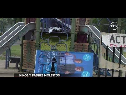Hombre en situación de calle se tomó juego en plaza de Estación central - CHV NOTICIAS