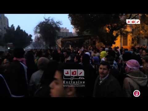 رصد | صمود متظاهرى حلوان امام اعتداءات الداخلية عليهم للمرة الثالثة  فى جمعة اسبوع الغضب