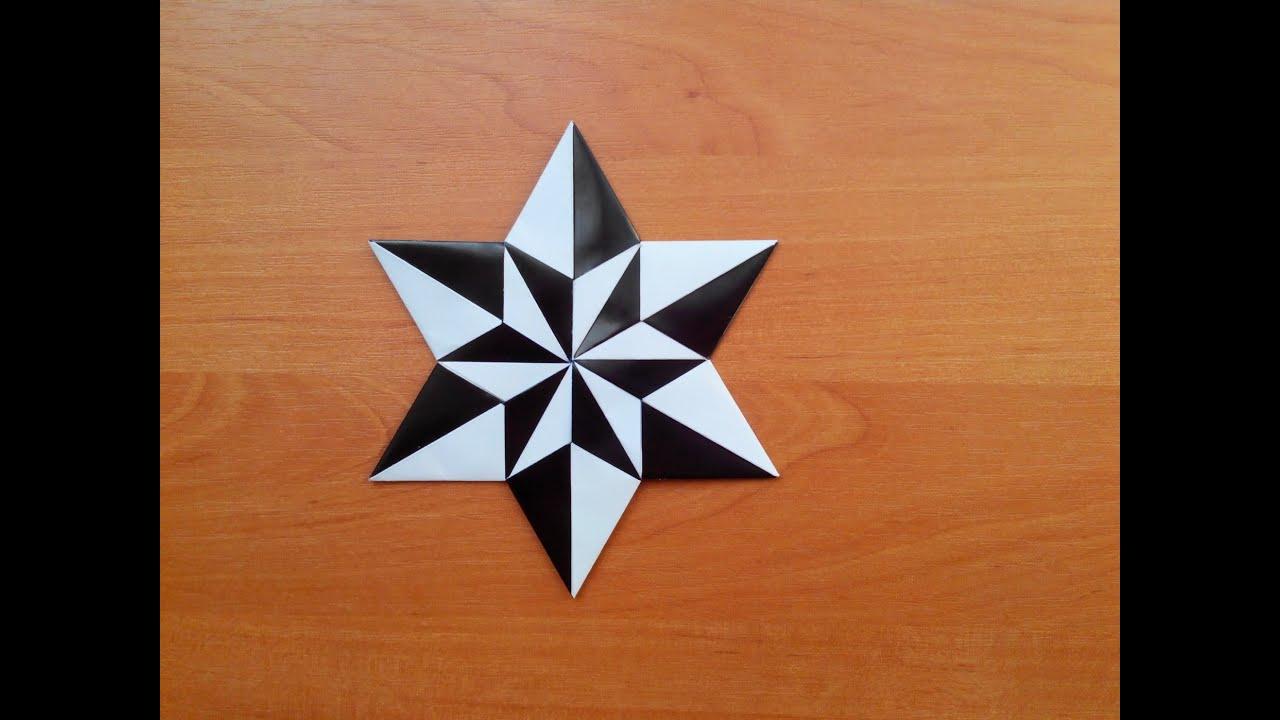 Черно Белая Звездочка Оригами Carmen Sprung, Black And -6375