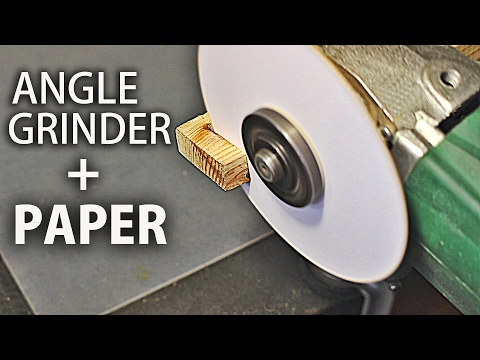Cutting  with an Angle Grinder and Paper (Pasterboard, plastic, wood)