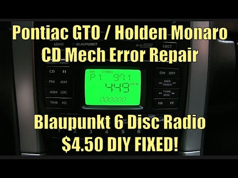 How to Fix a CD Mech Error in a 2004-'06 Pontiac GTO or Holden Monaro with 6-Disc Blaupunkt Stereo
