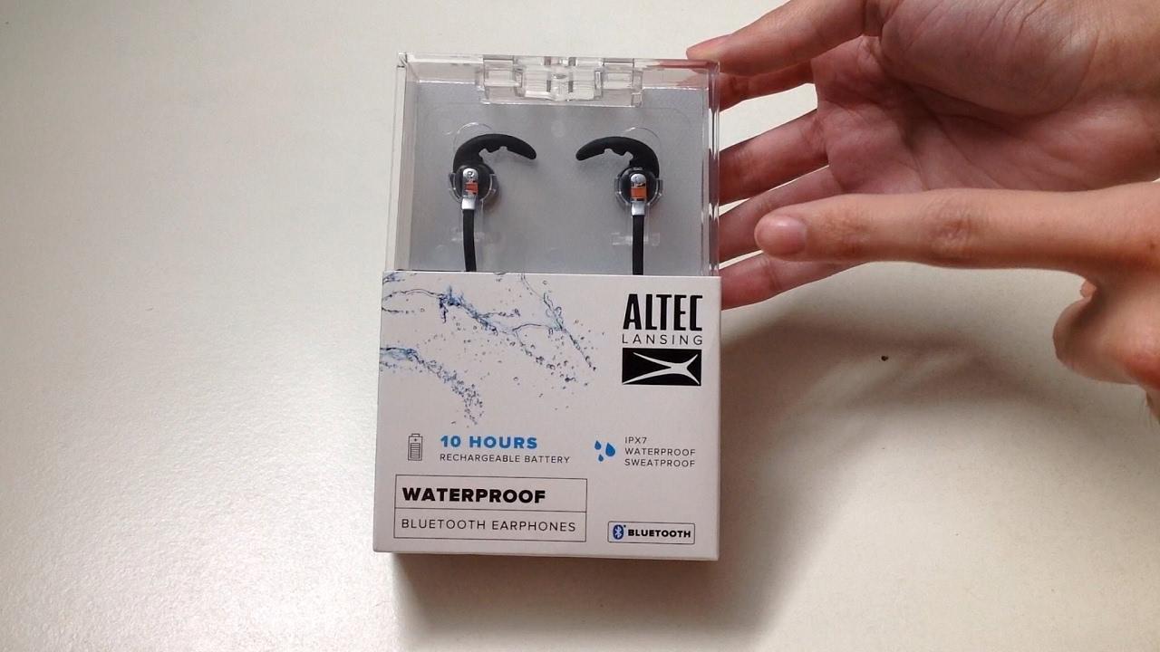best service d90f0 b0a78 Altec Lansing Waterproof Bluetooth Earphones Unboxing