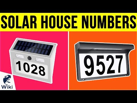 6 Best Solar House Numbers 2019