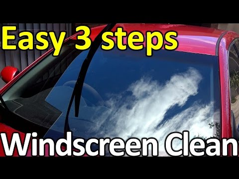how to clean windscreen glass