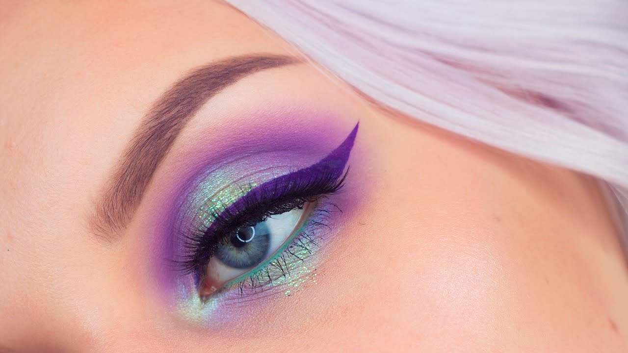 pastel purple and green eyeshadow tutorial