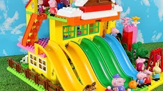 Peppa Pig Blocks Mega House LEGO Creations Sets With Masha And The Bear Legos Toys For Kids #40