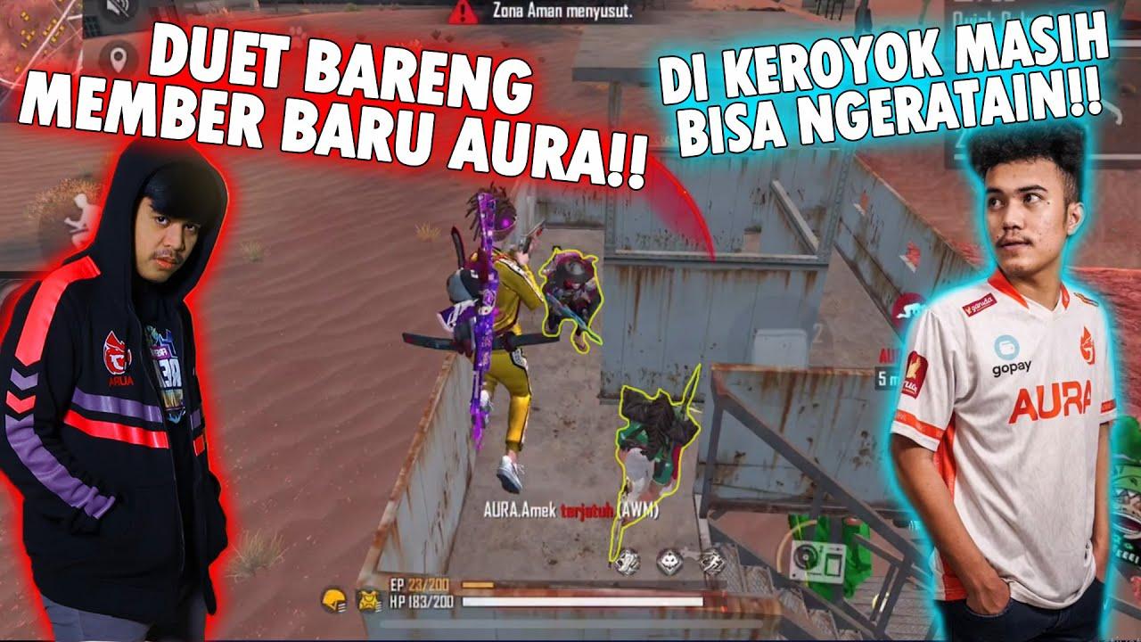 DUET BARENG MEMBER BARU AURA AMEK!! DIKEROYOK 3 SQUAD MASIH BISA NGERATAIN!!