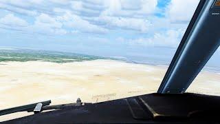 FSX Borg El Arab Landing ( Boeing 737 cockpit )