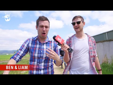 City boy Liam goes for a dunk in the sh*t pit