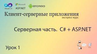 Создание ASP.NET приложения (Серверная часть).Урок 1