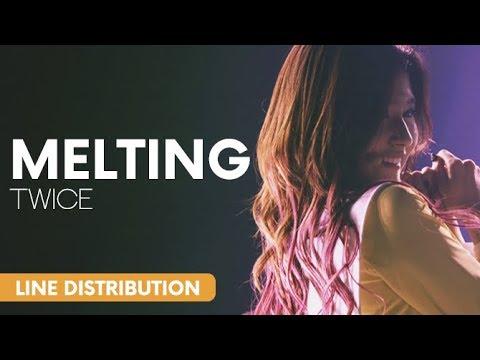 TWICE (트와이스) - Melting (녹아요)   Line Distribution