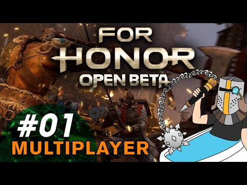 For Honor Knight Faction: Warden Gameplay - For Honor Open Beta - PC Multiplayer Gameplay 01