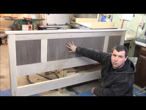 "King Size  Platform Bed ""Headboard preview"""