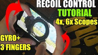 HOW TO CONTROL RECOIL (Handcam) + GYROSCOPE | PUBG Mobile | Iphone XR